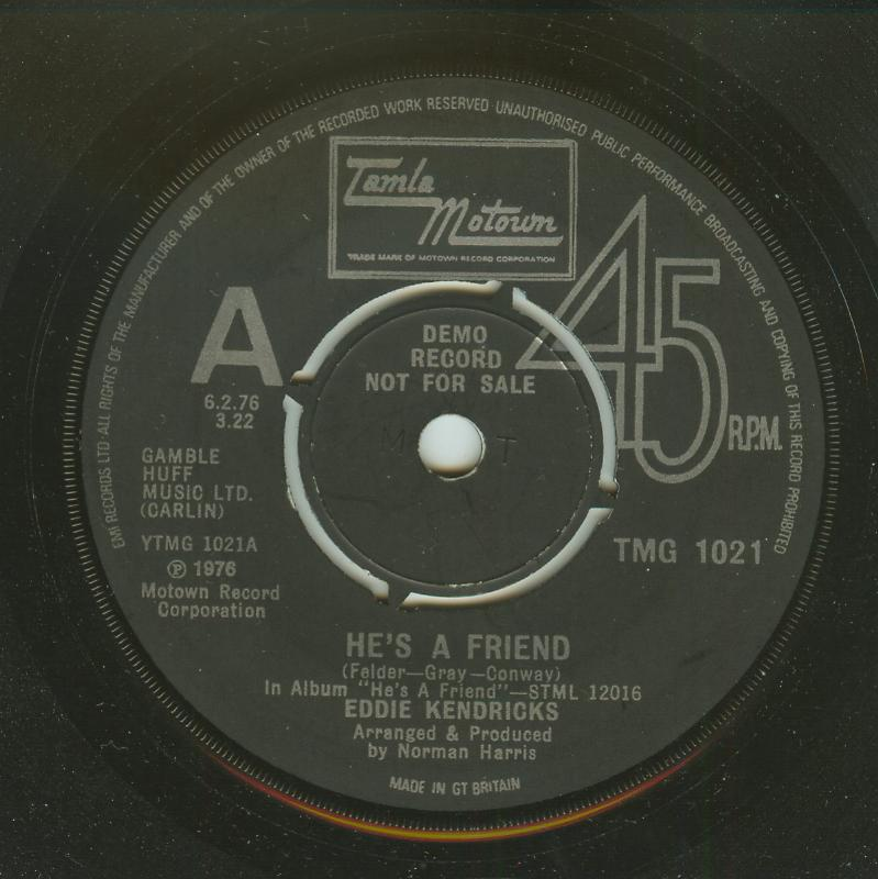 Eddie Kendricks - He's A Friend / All Of My Love