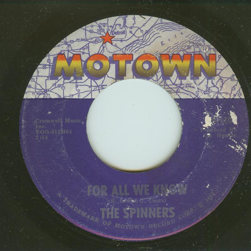 Spinners - For All We Know / I Cross My Heart