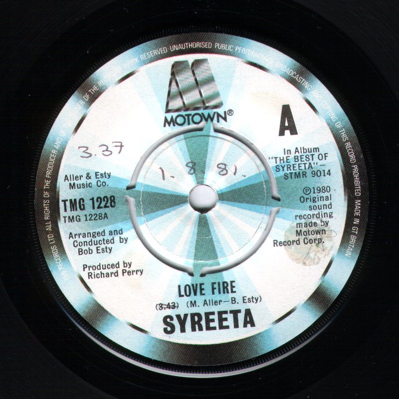 Syreeta - Love Fire / Cause We've Ended As Lovers
