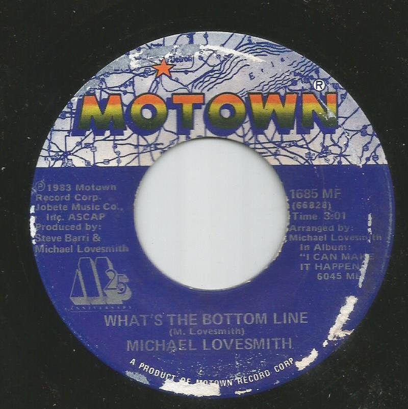 Michael Lovesmith - What's The Bottom Line / Baby I Will