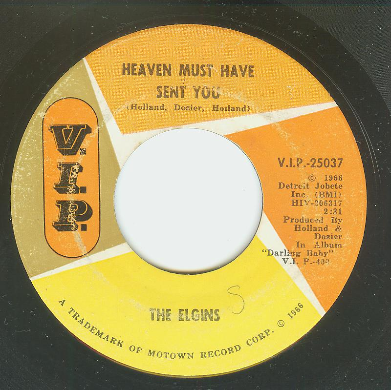 Elgins - Heaven Must Have Sent You / Stay In My Lonely Arms