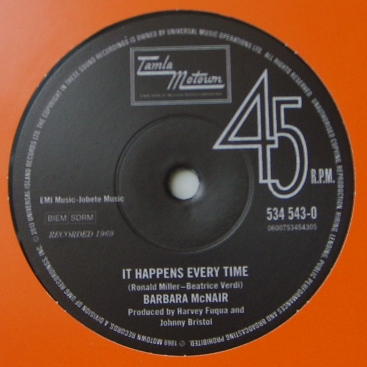 Barbara McNair / David Ruffin - It Happens Every Time / I Can't Be Hurt Anymore