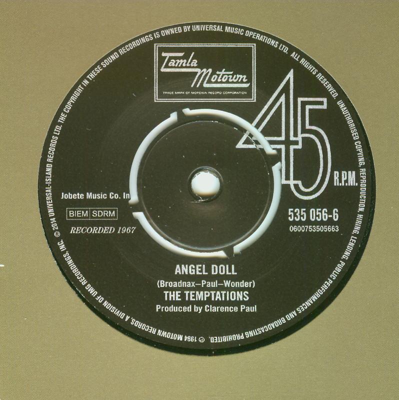 Temptations / Brenda Holloway - Angel Doll / We'll Keep On Rolling