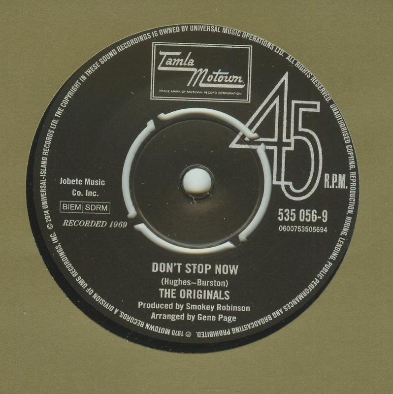 Originals / Velvelettes - Don't Stop Now / That's A Funny Way