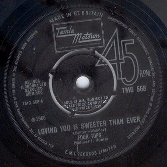 Four Tops - Loving You Is Sweeter Than Ever / I Like Everything About You