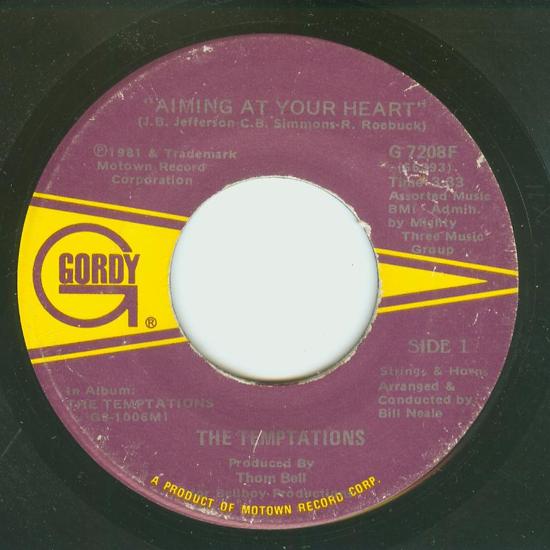 Temptations - Aiming At Your Heart / The Life Of A Cowboy