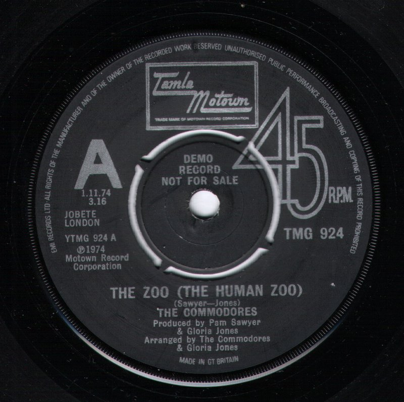 Commodores - The Zoo - The Human Zoo / I'm Looking For Love