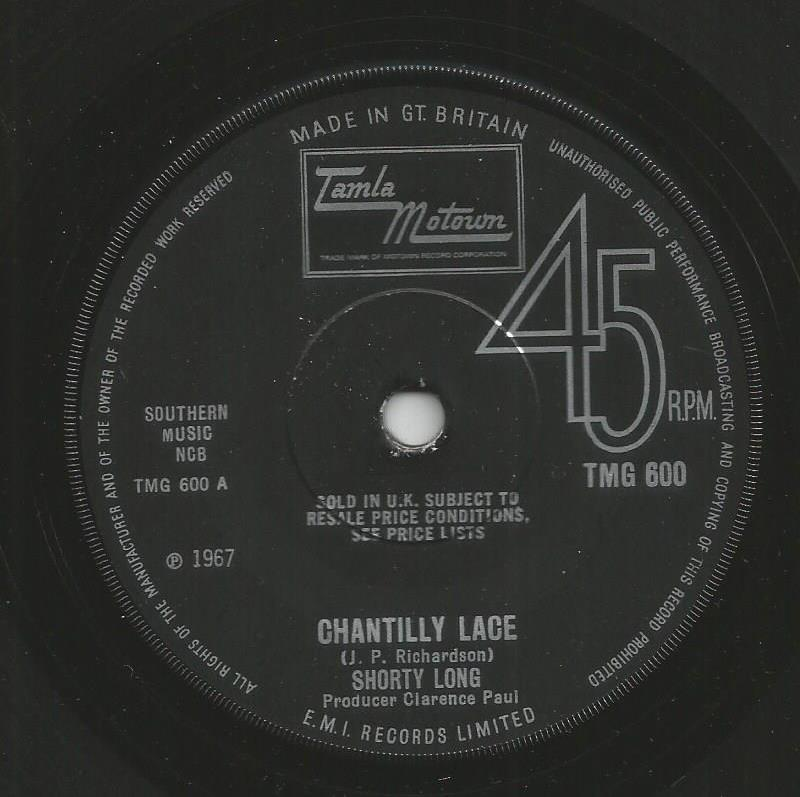 Shorty Long - Chantilly Lace / Your Love Is Amazing