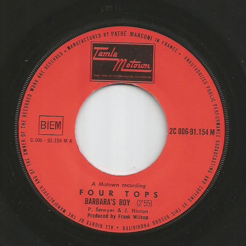 Four Tops - Barbara's Boy / Look Out Your Window