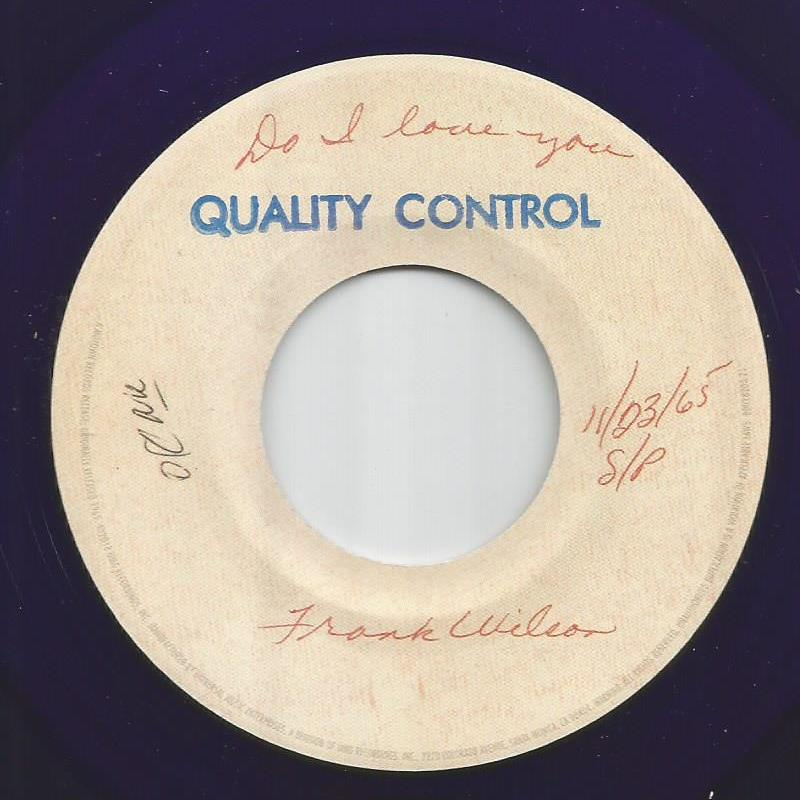 Frank Wilson - Do I Love You / Sweeter As The Days Go By