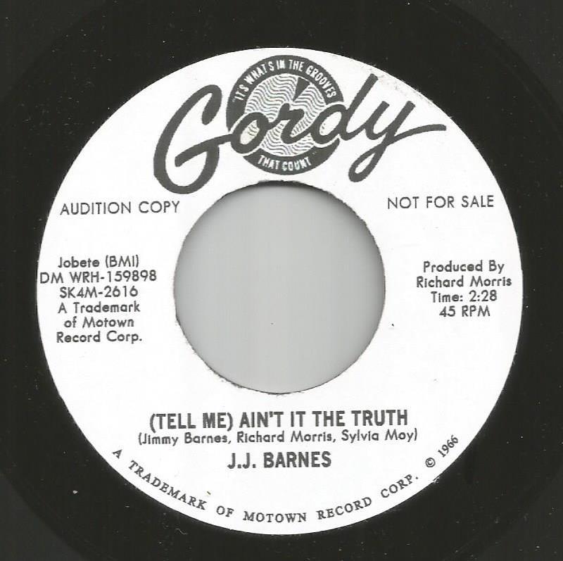 JJ Barnes - (Tell Me) Ain't It The Truth / Blank