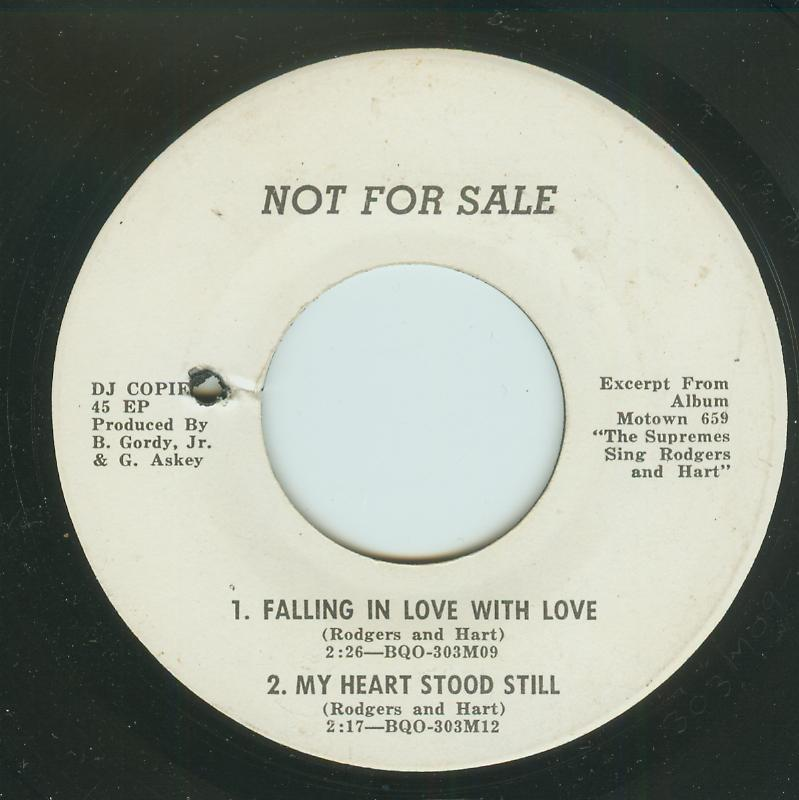 Supremes - Falling In Love With Love / My Heart Stood Still / The Lady Is A Tramp / Lover